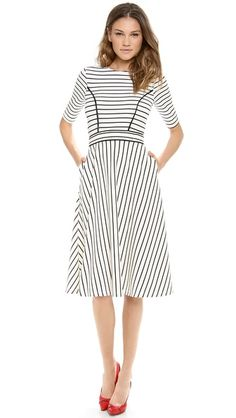 TCC Shopbop Friends and Family Pick!  Use code 'INTHEFAMILY14' for 25% off sitewide! This Cynthia Rowley striped midi dress is too perfect for words...