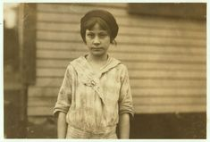 Madeline Causey ten year old worker in Merrimack Mills. Been working there for four months. Fills batteries. Her mother said she was born July 7, 1903. See Hine report. Location: Huntsville, Alabama. 1913 November. National Child Labor Committee Collection, Library of Congress.