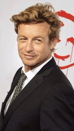 Simon Baker being really attractive