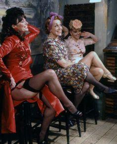 Vicki Michelle, Carmen Silvera and Sue Hodge, in 'Allo 'Allo, The Spirit of Nouvion British Tv Comedies, British Comedy, Garters And Stockings, Stockings And Suspenders, Nylons, Vicki Michelle, Star Of The Day, Film Icon, T Tv