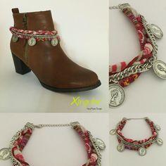 Pulsera para botas Botas Boho, Estilo Hippie Chic, Boot Jewelry, Boho Boots, Boot Bling, Moda Plus Size, Denim Bag, Boot Cuffs, Designer Boots