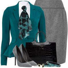 """""""Peplums n' Pencils"""" by stylesbyjoey on Polyvore"""