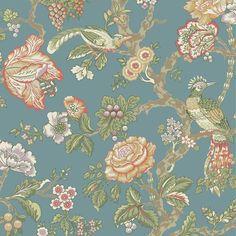 York WA7736 Waverly Classics Casa Blanca Rose Wallpaper