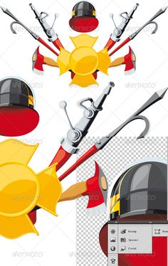Firefighter Fighting Fire | Editor, Graphic design illustration ...