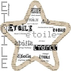 Polices écriture étoiles