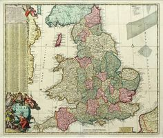 map of England and Wales from  the Antiquarium