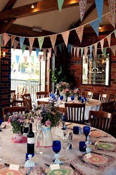 A Country Pub Wedding- Cute decor ideas for a laid back pub wedding.