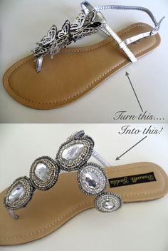 DIY Beaded Sandals!