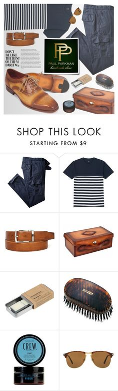 """""""PAUL PARKMAN - Matching shoes and belts (GENUINE LEATHER , HANDMADE ITEMS)"""" by vn1ta ❤ liked on Polyvore featuring Uniqlo, Le Labo, Persol, men's fashion and menswear"""