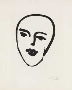 "laurgold:Swann Galleries, Old Masters through Modern Prints, Oct. 30thSale 2328 Lot 376 HENRI MATISSE Masque au Petit Nez. Aquatint, 1948. 432x346 mm; 17x13 5/8 inches, full margins. Artist's proof (there was no published edition). Signed and inscribed ""Essai"" in pencil, lower margin. A superb impression of this exceedingly scarce print. Duthuit notes only two artist's proofs, both signed in pencil lower right. Duthuit 798.Estimate $20,000 - 30,000"