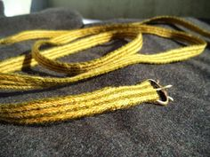 Andrea Håkansson - Recreating History - A Tablet-Woven Belt - Wool warp and silk weft