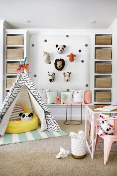 Kids Playroom Paint Ideas is a medium that we use to decorate the playroom so that impressed inspiring. It is to use for learning by children with how to play. Playroom Paint, Playroom Decor, Playroom Ideas, Attic Playroom, Cool Shelves, Day Room, Modern Kids, Shelf Design, Carpet Design