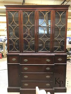 Grey Furniture, Chalk Paint Furniture, Furniture Design, Vintage Furniture, Chalk Paint Colors, White Chalk Paint, Annie Sloan, Blue China Cabinet, China Cabinets