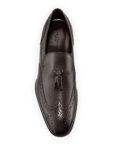 Giorgio Armani Men's Tassel Wing-Tip Loafers | Neiman Marcus