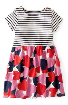 Mini Boden 'Hotchpotch' Jersey Dress (Toddler Girls, Little Girls & Big Girls)(Online Only) available at Baby Girl Frocks, Frocks For Girls, Toddler Girl Dresses, Girls Dresses, Toddler Girls, Girl Frock Dress, Birthday Frocks, Party Wear Frocks, Little Fashionista
