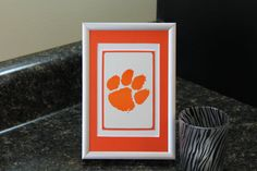 Clemson Tigers 4x6 Authentic Playing Card Desk Display by SinCityDisplays