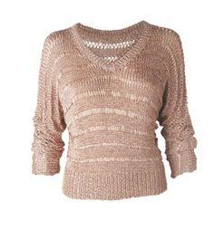 Receita para fazer uma blusa dourada de tricô - Moda, Beleza, Estilo, Customizaçao e Receitas - Manequim - Editora Abril