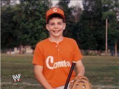 Jeff Hardy as a young baseball star during his younger years. Cheap Baseball Caps, Baseball Star, Baseball Pants, The Hardy Boyz, Jeff Hardy, Roman Reigns Wwe Champion, Wwe Champions, Shirt Mockup, Rare Photos