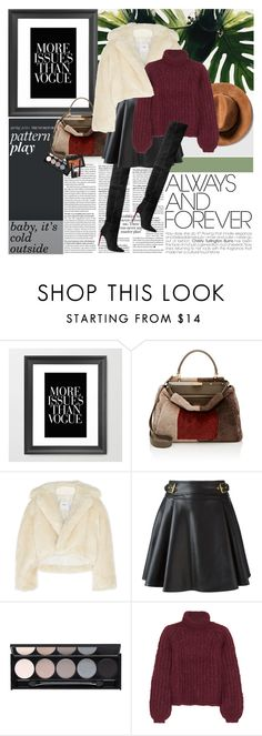 """""""baby, it's cold outside"""" by anny-dd ❤ liked on Polyvore featuring Fendi, Toga, Roberto Cavalli, Witchery, Chloé, NARS Cosmetics, women's clothing, women's fashion, women and female"""