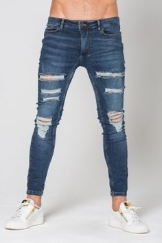 11 Degrees - Destrukt Super Skinny Jeans - Indigo   11 Degress have completely nailed it with their new denim range! Style with hoodies and tees for a classic urban look, or with a premium fitted shirt for an edgy sophisticated style. The choice is yours! Shop now @ Urban Celebrity!