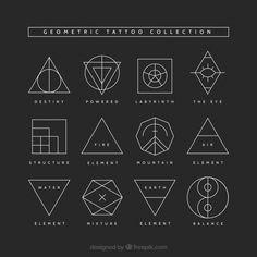 Geometric Tattoo Meaning, Geometric Tattoo Back, Geometric Tattoos Men, Geometric Tattoo Design, Triangle Tattoo Meaning, Vintage Tattoo Design, Minimalist Tattoo Meaning, Geometric Symbols, Geometric Graphic