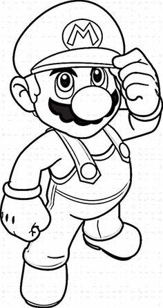 Mario Bross Tegninger til Farvelægning. Printbare Farvelægning for børn. Tegninger til udskriv og farve nº 1