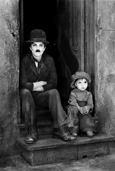 Natalie and her 'Kid' recreate iconic Charlie Chaplin image (Victoria Will)