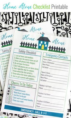 Free Home Alone Printable | Designed by UrbanBlissLife for TodaysCreativeLife.com | This printable puts both you and your children at ease for staying home alone.