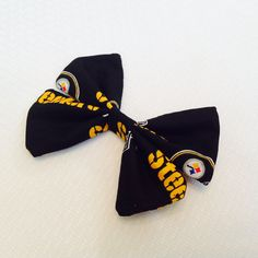 Pittsburgh Steeler's Football Hair Bow by DailySnuggle on Etsy
