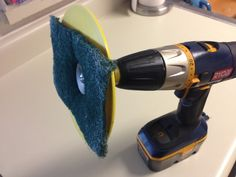 #Power #Drill Life Hack for Easy Shower Cleaning. Get power tools from: http://toolsforhomeimprovement.com