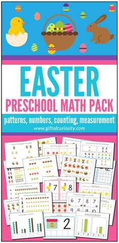 Easter Preschool Math Pack - Gift of Curiosity What Is Preschool, Numbers Preschool, Preschool Kindergarten, Learning Numbers, Preschool Ideas, Easter Activities For Kids, Kids Learning Activities, Creative Activities, Early Math
