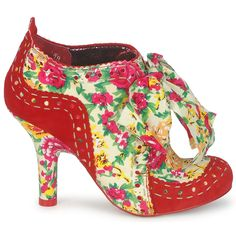 These red floral shoe boots by @irregularchoice  are called Abigail's Party! #shoes #boots #shoeboots #heels #ankleboots #booties #redshoes #floralshoes #fashion