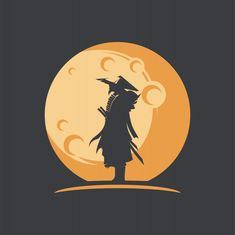 Awesome samurai silhouette illustration with moon vector Pictures To Draw, Art Pictures, Samurai Wallpaper, Moon Vector, Gaming Posters, Moon Logo, Technology Wallpaper, Samurai Art, Fantasy Paintings