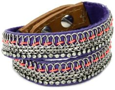 """Fiona Paxton """"AFRICAN SUSHI"""" Emi Double Wrap Cuff Bracelet Fiona Paxton. $247.60. Made in Great Britain. Items that are handmade may vary in size, shape and color. The cuff has two studs on the closure for two size options. Sizes indicated are for the largest option"""
