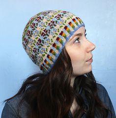 Ravelry: Peerie Flooers pattern by Kate Davies Designs Fair Isle Knitting Patterns, Fair Isle Pattern, Knitting Kits, Knitting Yarn, Knitting Projects, Wooly Hats, Knitted Hats, Crochet Shawl, Knit Crochet