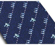 Pictorial Seven fold tie