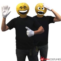 Couples Costume Inspiration: Guaranteed to make you an ICON at any event. The Emoticon Head Costume lets you channel your inner monster, zombie or smilie. Emoticon, Couples Fancy Dress, Mrs Incredible, Best Couples Costumes, Yellow Costume, Homer Simpson, Significant Other, The Incredibles, Channel