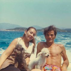 Maria Callas and Pier Paolo Pasolini on vaction in Greece ~ 1969