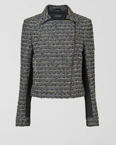 British Linton Tweed Biker - I want to sew this.  Lapels and under sleeve are solid black for contrast.