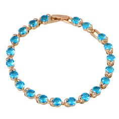 Find More Charm Bracelets Information about Royal 18K yellow Gold plated Bracelets & bangles Blue Cubic Zirconia Sapphire fashion jewelry B246,High Quality jewelry armoire,China jewelry fantasy Suppliers, Cheap jewelry supplier from Dana Jewelry Co., Ltd. on Aliexpress.com