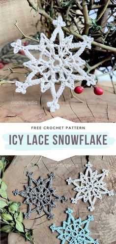 Magical Snowflakes Ideas and Free Crochet Patterns Free Crochet Snowflake Patterns, Christmas Crochet Patterns, Crochet Snowflakes, Christmas Snowflakes, Christmas Trees, Crochet Garland, Crochet Ornaments, Xmas Ornaments, Crochet Christmas Gifts