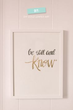 DIY Gold Leafed Wall Art. Can apply the gold leaf idea to something else?