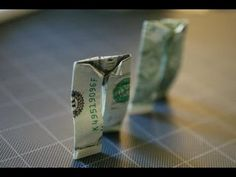 origami pants from money