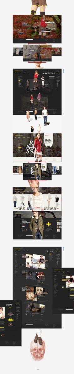 Renessance by Sergei Gurov, via Behance  #e-commerce #design #webdesign