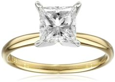 IGI Certified 18k White Gold Classic Princess-Cut Diamond Engagement Ring (1.5 cttw, H-I Color, SI1-SI2 Clarity)