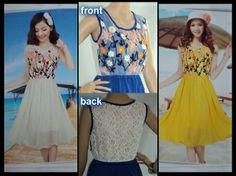 915 Korean Embroidered Chiffon Dress