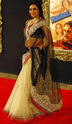 Indian Bollywood Designer Replica Rani mukherjee Ethnic look saree sari-Sarees-arj.creation, http://www.junglee.com/dp/B00EC4P20S/ref=cm_sw_cl_pt_dp_B00EC4P20S