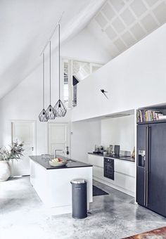 Danish home, Scandinavia style kitchen, minimalist kitchen