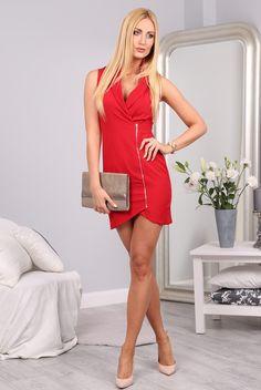 Sukienka czerwona 9846