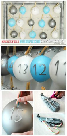 Make a surprise countdown calendar this year! Each day kids get to pop a balloon to get their treat!